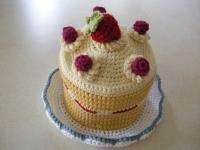 イチゴのショートケーキ帽子