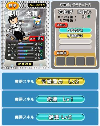 早川、守備固め2はいらんのだよ。
