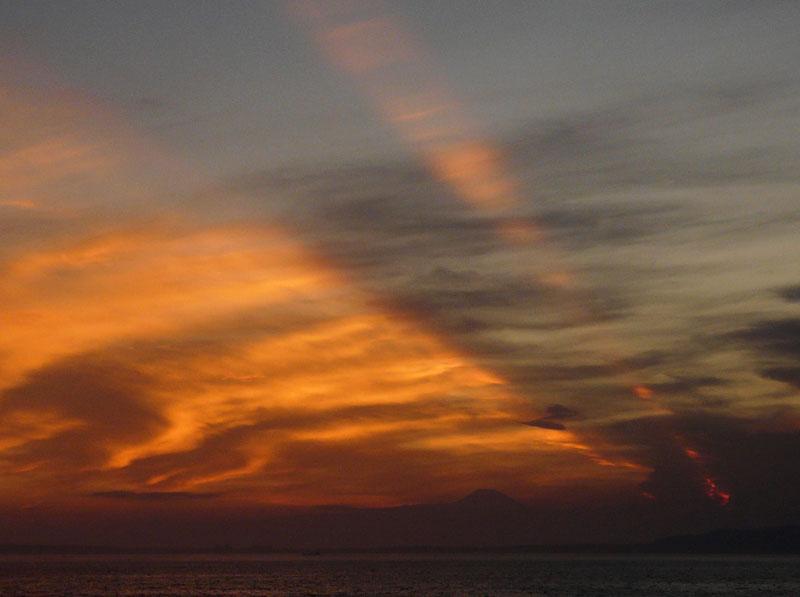 090808フェリー夕陽1
