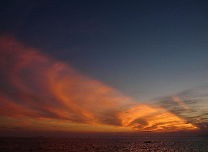 090808フェリー夕陽2