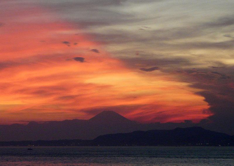 090808フェリー夕陽5