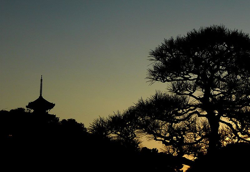 三溪園夕景3