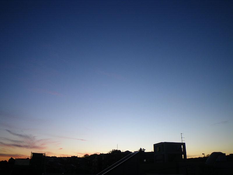 100127今日の夕空5