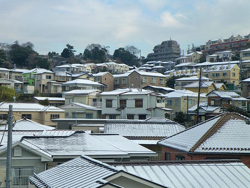 100202雪景色@横浜市南区1