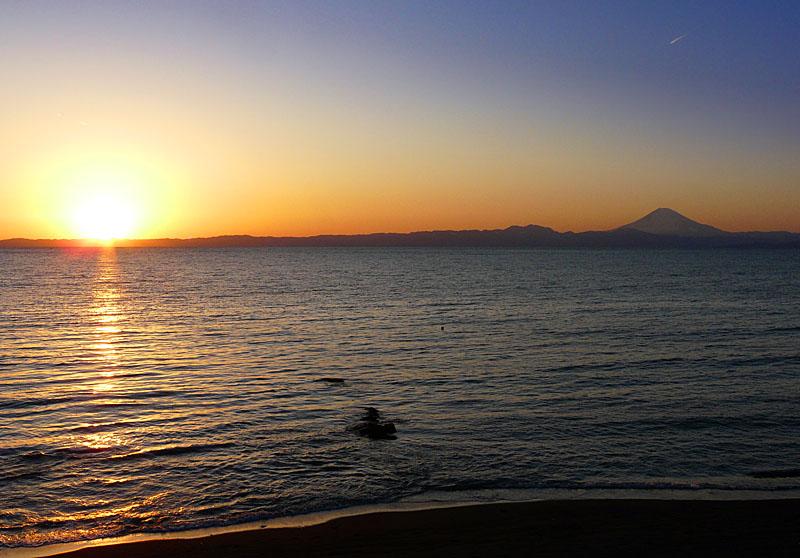 100207三戸浜夕陽4
