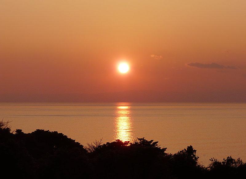 100220今日の夕陽@ソレイユの丘6