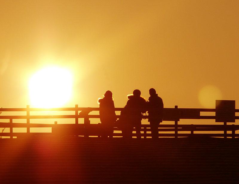 100220今日の夕陽@ソレイユの丘3