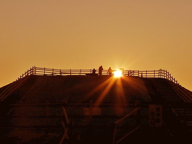 100220今日の夕陽@ソレイユの丘2