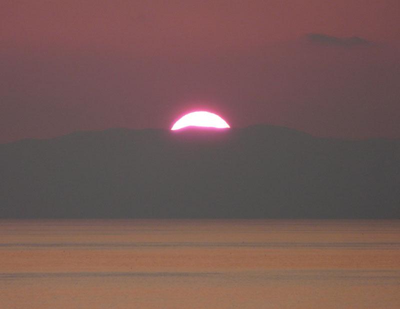 100220今日の夕陽@ソレイユの丘7