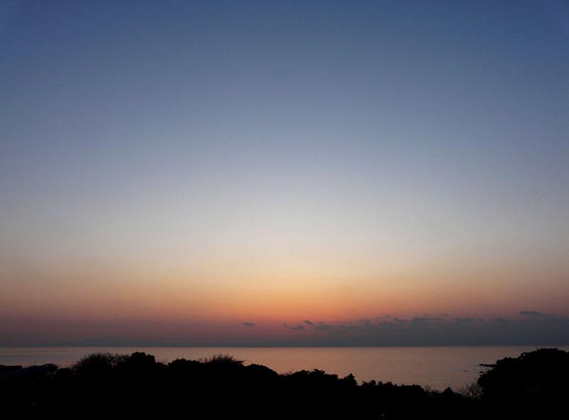 100220今日の夕陽@ソレイユの丘8