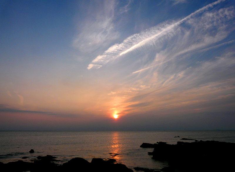100606荒井浜夕景1