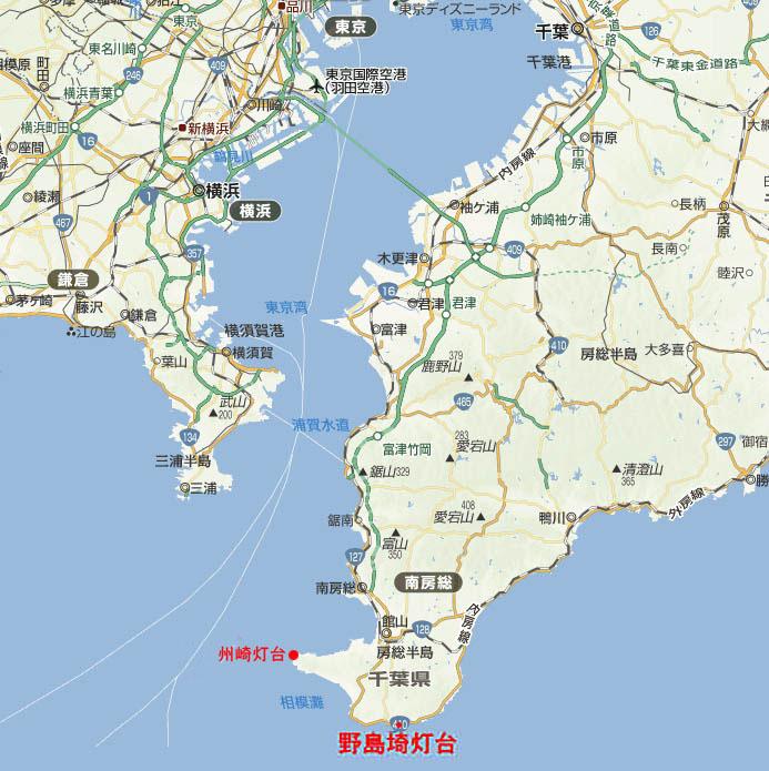 野島崎灯台地図
