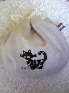 猫のしじみ巾着