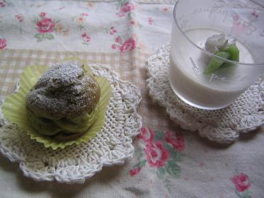 抹茶シュークリーム