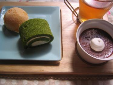 抹茶ロール&チョコプリン