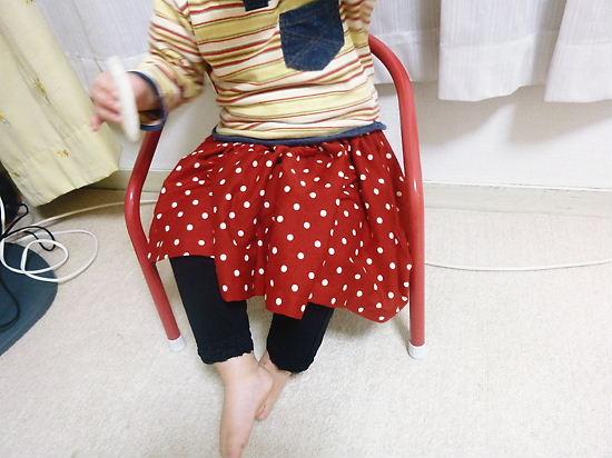ミニーちゃんのスカートのアップ