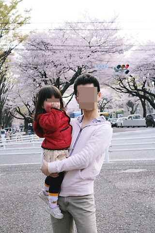 桜並木 パパとcoco
