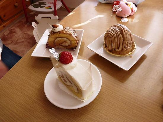 ケーキで癒し