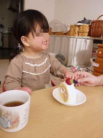 3/18 ケーキおいしいでちゅ