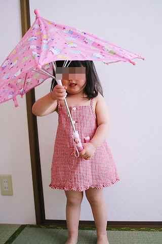 傘がお気に入り