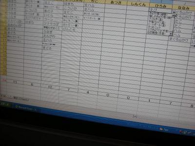 寿司オーダー表