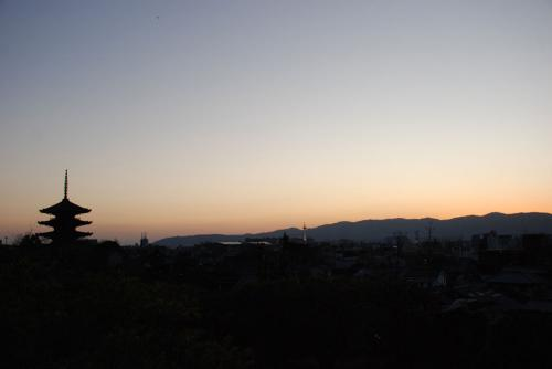 高台寺より-夕暮れ-