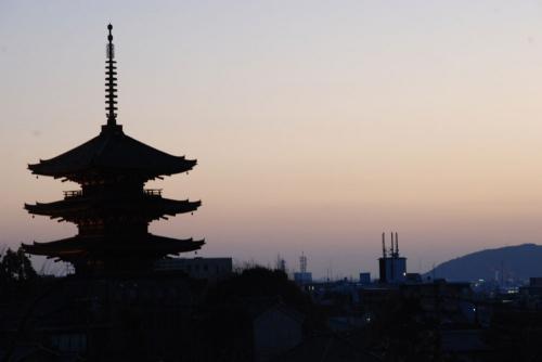高台寺より-夕暮れ2-