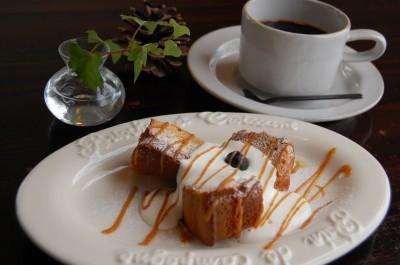 塩バニラキャラメルのケーキ。