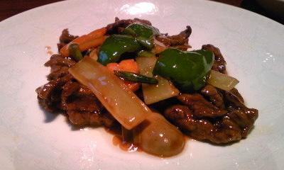牡丹園牛肉と野菜炒め0908