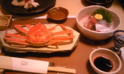 寿海亭セコ蟹と刺身
