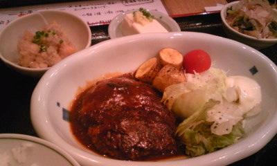 居酒屋さんぽランチデミグラス味噌ハンバーグ
