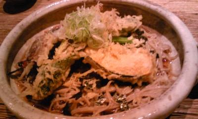 守破離夜野菜天麩羅ぶっかけ蕎麦