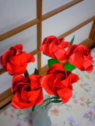 折り紙バラb