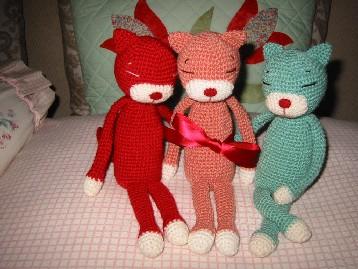 編みねこ3兄弟