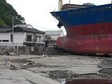 乗り上げた船2