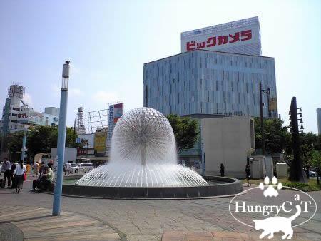 岡山駅前の噴水