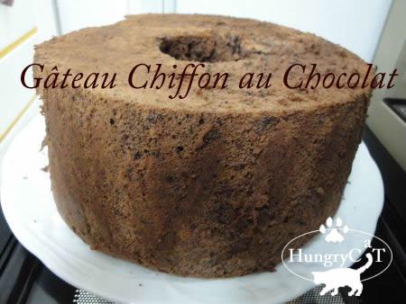 チョコレートの入ったシフォンケーキ