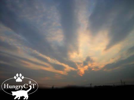 夕方の空を見て・・・