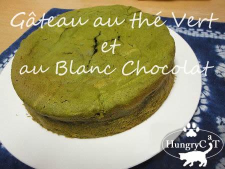 Gâteau au thé Vert et au Blanc Chocolat