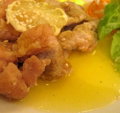 チキンのレモンソース2@萬珍楼點心舗