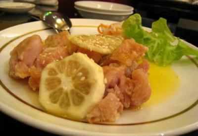 チキンのレモンソース@萬珍楼點心舗