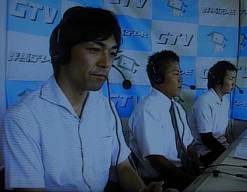 高校野球実況中の吉原さん