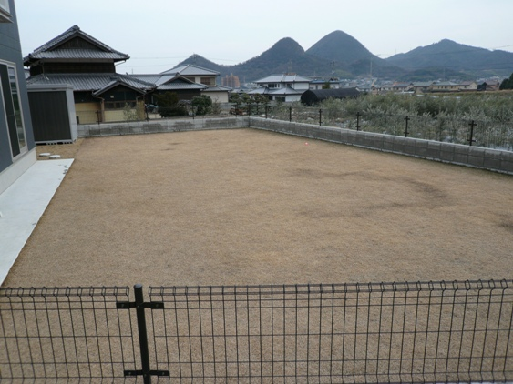 冬枯れの芝