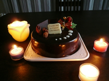 X'mas用チョコケーキ♪