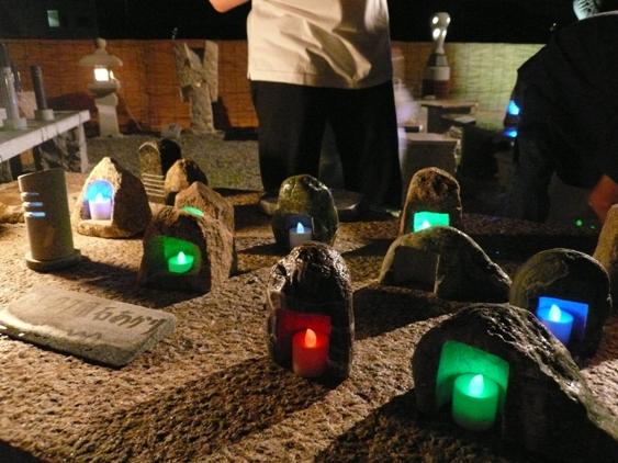 キャンドル用石灯り 一個¥3,000-