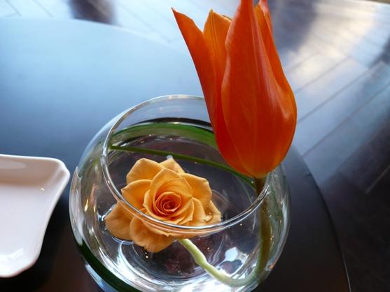 オサレに飾られたお花