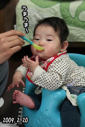 2009 02 20 初離乳食 blog02のコピー