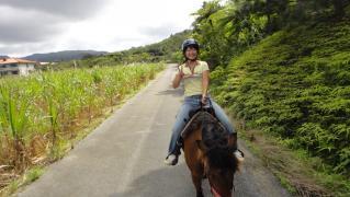 めぐちゃん・のりえちゃん乗馬0228 011