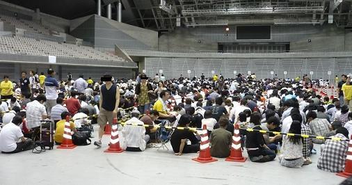 キャラホビ2009 会場前行列
