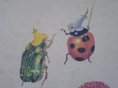 てんとう虫が帽子